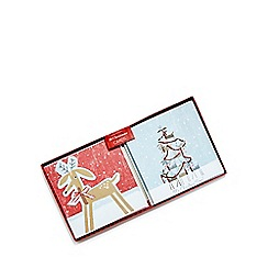 Debenhams - Set of ten reindeer Christmas cards