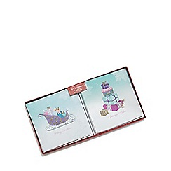 Debenhams - Set of ten sleigh and present luxury Christmas cards