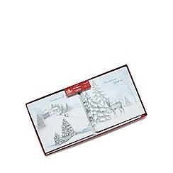 Debenhams - Set of ten winter scene charity Christmas cards
