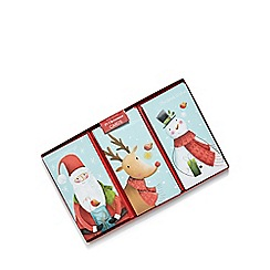 Debenhams - Set of 18 Santa, Rudolph and snowman Christmas cards