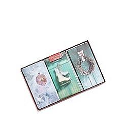 Debenhams - Set of 18 assorterd glittery Christmas cards