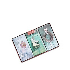 Debenhams - Set of 18 assorterd glittery Christmas cards