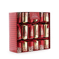 Debenhams - Set of 12 luxury Christmas crackers