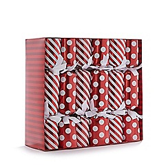 Debenhams - Set of 12 printed luxury Christmas crackers