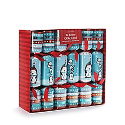 Debenhams - Set of 12 penguin luxury Christmas crackers