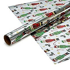 Debenhams - Four metre foil 'Nutcracker' gift wrap