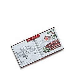Debenhams - Set of ten red robin and snow scene charity Christmas cards