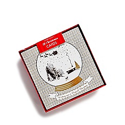 Debenhams - Set of ten gold snow globe Christmas cards