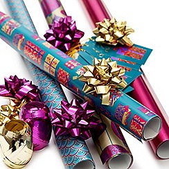 Debenhams - Pink Christmas wrapping paper set
