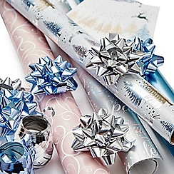 Debenhams - Multicoloured printed Christmas wrapping paper set