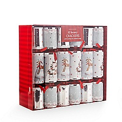 Debenhams - Pack of 12 Christmas crackers