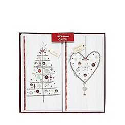 Debenhams - Pack of sixteen tree and wreath print Christmas cards