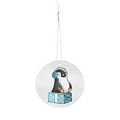 Debenhams - Pack of eight silver penguin print gift tags