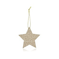 Debenhams - Set of eight gold glittered star gift tag