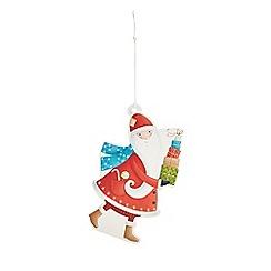 Debenhams - Set of eight Santa print Christmas gift tags