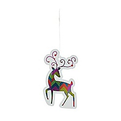 Debenhams - Set of eight multicoloured reindeer Christmas gift tags