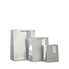 Debenhams - Pack of three silver gift bags