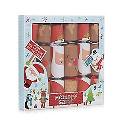 Debenhams - Set of six Christmas crackers with a memory game