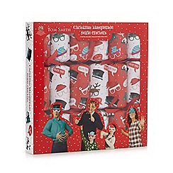 Debenhams - Set of six Christmas masquerade selfie crackers