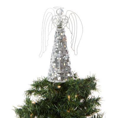 Silver Sequin Angel Tree Topper - Debenhams