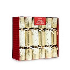 Debenhams - Set of 12 gold sequinned luxury Christmas crackers
