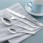 Stainless steel 'Rattail' 18 piece cutlery set