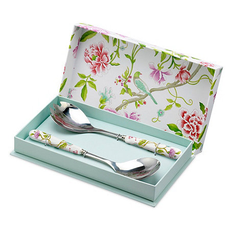 Portmeirion - Set of two porcelain and stainless steel +Sanderson+ salad servers