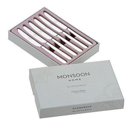 Arthur Price - Set of six +Monsoon+ stainless steel tea knives