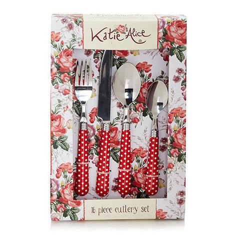 Katie Alice - Sixteen piece +Scarlet Posy+ cutlery set