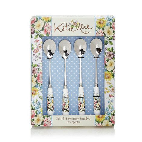 Katie Alice - Set of four stainless steel +English Garden+ teaspoons