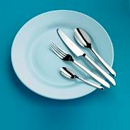 Stainless steel 'Darcy' forty four piece cutlery set
