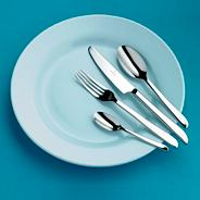 Stainless steel 'Darcy' fifty eight cutlery set