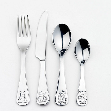Oneida - Stainless steel debossed jungle animal four piece cutlery set