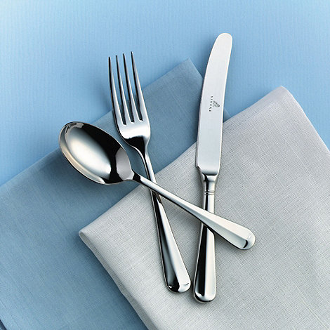 Viners - Silver fifty eight piece +Rattail+ cutlery set