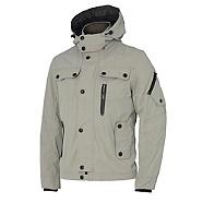 Light grey hooded Harrington jacket
