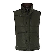 Dark green quilted gilet