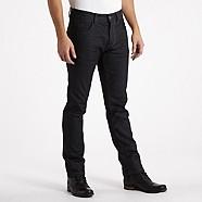 Dark blue raw slim jeans