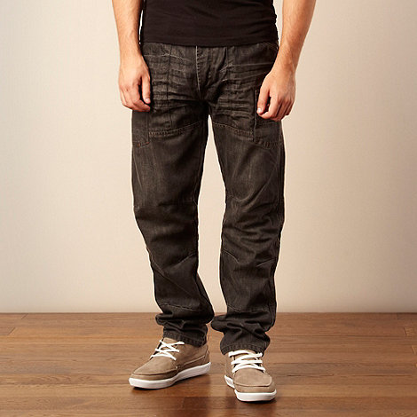 FFP - Near black +Utility+ loose fit jeans