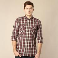 Wine checked shirt