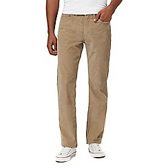 Levi's - Big and tall taupe '514' straight leg corduroy trousers