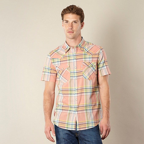 Levi+s - Light orange checked shirt