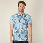 Levis blue palm tree printed shirt