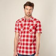 Levi's red classic western checked shirt