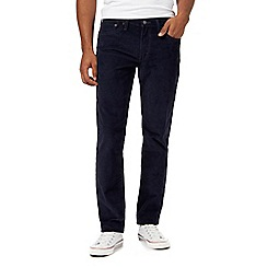 Levi's - Big and tall navy '511' straight leg corduroy trousers