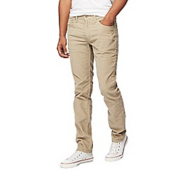 Levi's - Big and tall beige '511' straight leg corduroy trousers