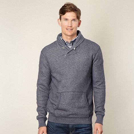 Levi+s - Navy mottled shawl neck sweatshirt