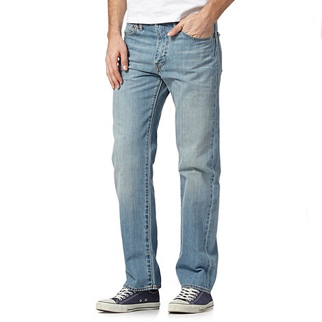 Levi+s - 751&#8482 light blue stonebleach straight leg jeans