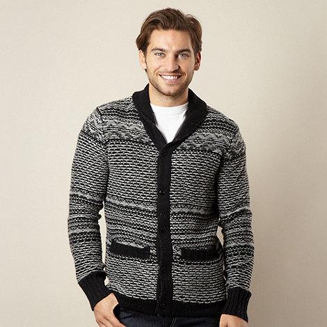 Levi+s - Black two tone knit shawl neck cardigan