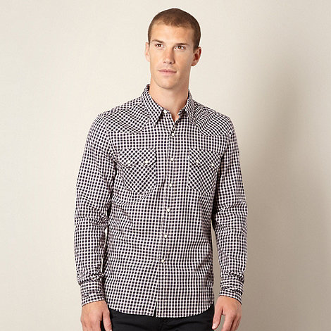 Levi+s - Navy western checked shirt