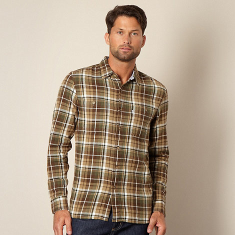 Levi+s - Dark green brushed checked shirt
